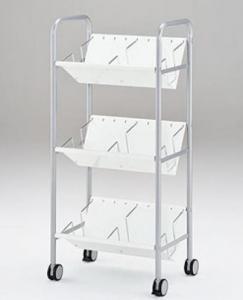 〖林製作所〗A4対応3段ファイルワゴン 新タイプ仕切り板を採用【事務用品】