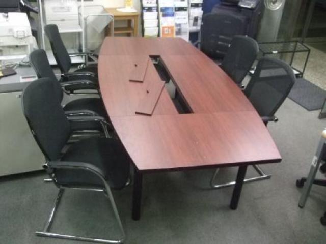 『ウチダ製大型会議用テーブル』+『オカムラ製コンテッサ6脚』【セット商品】                                     中古