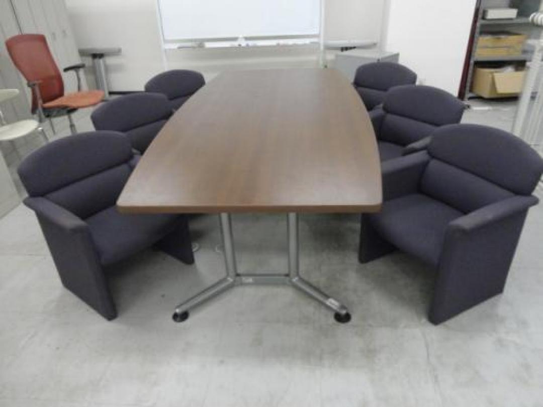 中古】会議室用6名セット オカムラ製 会議用テーブル 【セット商品