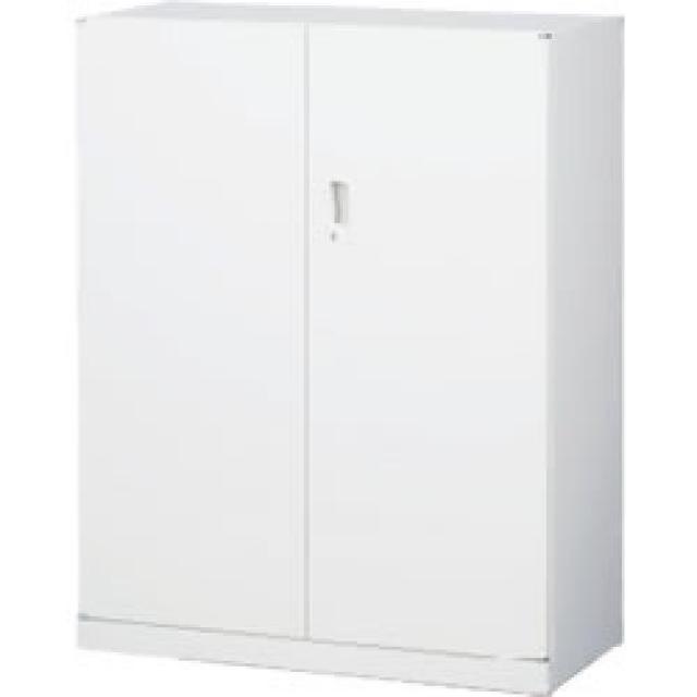 【収納家具】両開き書庫 A4ファイル対応 ホワイト【事務用品】